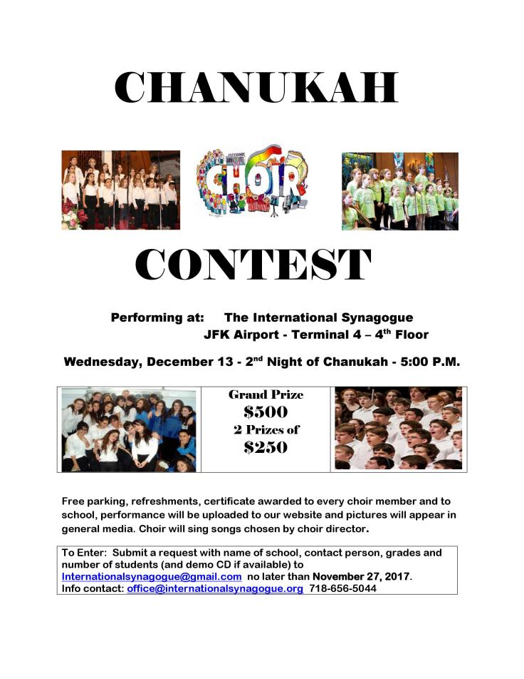 Chanukah 2017 Choir Contest