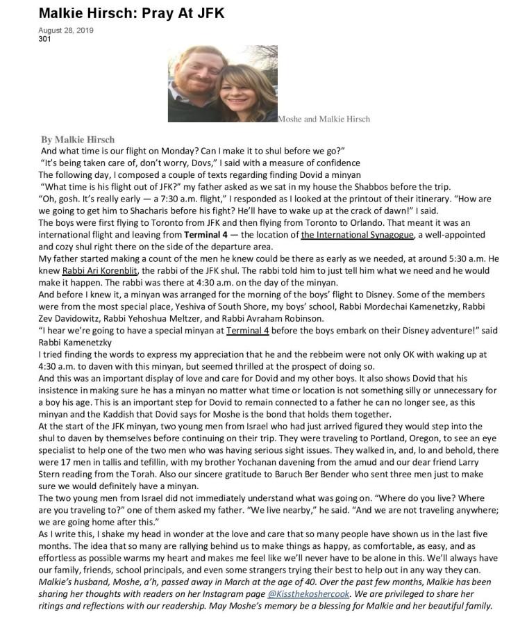5tjt article Pray At JFK 8 2019